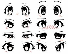 Anime eye shape ideas by RockuSocku on DeviantArt