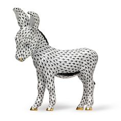 Herend Donkey | Farm Figurines | Herend Figurines | Collectibles | ScullyandScully.com