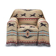 Southwest Horses Chair Cover - Western Wear, Equestrian Inspired Clothing, Jewelry, Home Décor, Gifts