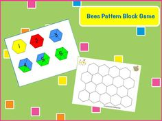 Racing game to fill up beehive using a dice and pattern blocks