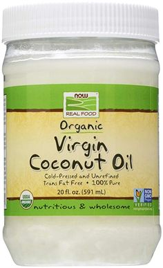 Organic Virgin Coconut Oil by NOW - 20 oz Raw Nuts, Raw Cashews, Cashew Butter, Trans Fat, Real Food Recipes, Coconut Oil, Tasty, Nutrition, Organic