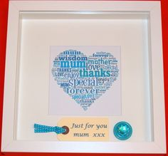 Handmade Personalised  Birthday Words and Name Picture £20.00