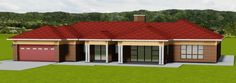 LD36 Free House Plans, Small House Plans, Single Storey House Plans, House Plans South Africa, Contemporary House Plans, Fancy Houses, African Wear, Beautiful Homes, Shed