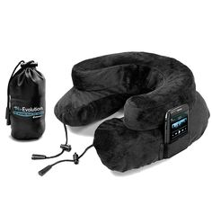 Air Evolution Inflatable Neck Pillow in Black by Cabeau - Flight 001