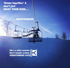 'Come together' & don't just ENJOY YOUR RIDE… …ENJOYOURIDE  Life's a roller coaster. Don't remain seated. @ENJOYOURIDE #EYR www.looseleafbrands.com