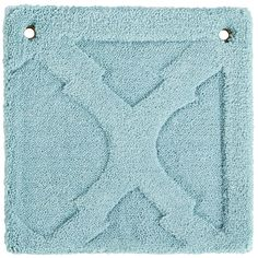 Moorish Tile Rug Swatch - Aqua