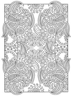 A Favorite From Mehndi Designs By Marty Noble Coloring Book PagesPaisley