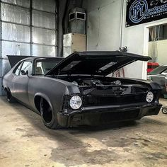dusolddesigns built Chevrolet Nova packing some twin turbo 383ci
