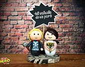 Thor Cake Topper Marvel Hammer Superhero Thor and Bride Wedding