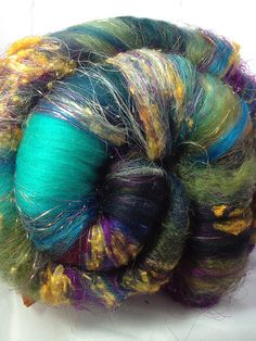 Demented Spinning Batts  117 g 41 ounces OOAK by LunabudKnits, $32.80