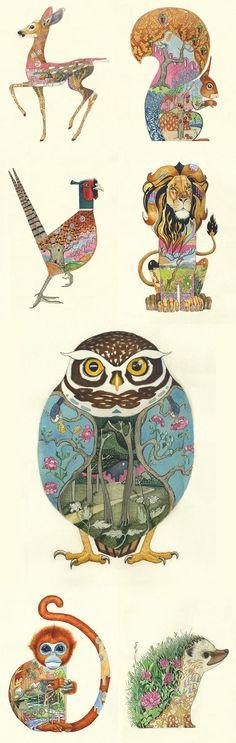 """grafiker.de - Fundstück des Tages: """"Wild Animals"""" von Daniel Mackie"""