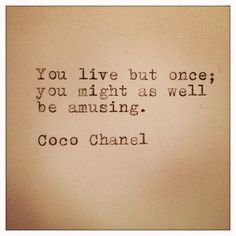 Coco Chanel Quote Typed on Typewriter on Cardstock door farmnflea