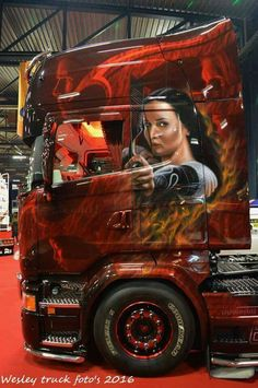 Show Trucks, Big Trucks, Customised Trucks, Highway To Hell, Truck Paint, Standing Poses, Cool Paintings, Exotic Cars, How To Look Better