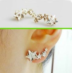 Star Shower Curved Earrings (Only 1 Piercing Needed) | LilyFair Jewelry, $11.99!