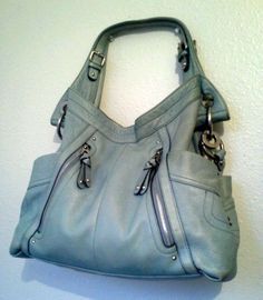 B Makowsky Authentic Handbag Leather Jakarta Shoulder Bag Hobo Purse Blue   225   eBay 7fa96fbaa7