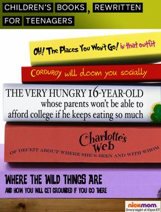 Children's Books, Rewritten For Teenagers #kids #parenting #funny