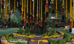 #Indianwedding decor by Ferns N Petals #marigolds