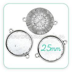camafeo conector para base redonda de 25mm http://www.creabisuteria.es/catalogo/camafeos-bases/