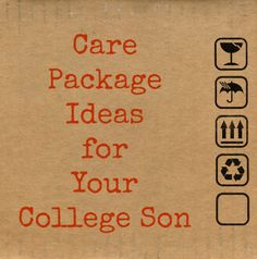Care Package Ideas for Your College Son