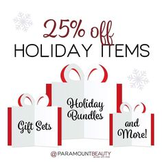 Happy Thanksgiving! Take 25% Off Holiday Items and 20% Off Regularly Priced Items for our #BlackFriday #SuperSaturday and #CyberMonday Sale at #ParamountBeauty! We're also offering incredible savings with our Secret Santa Insider Sale! Link in bio