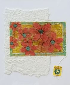 "Tea Bag Treasures  Suzanne LeLoup-West  ""Organic Flowers"" suzanne@suzannes-art-studio.com"