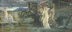 Walter Crane:Study for The Fate of Persephone