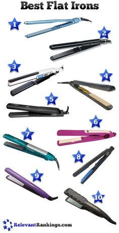 The top 10 best flat irons as rated by RelevantRankings.com