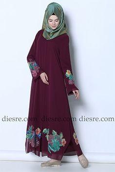 Tropikal Ferace Islamic Fashion, Kaftan, Hijab Fashion, Dressing, Abayas, Hijabs, Long Dresses, Ankara, Outfits