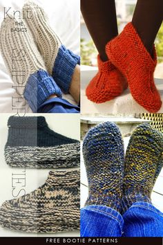 Slippers and booties to knit, crochet, loom, sew - DiaryofaCreativeFanatic