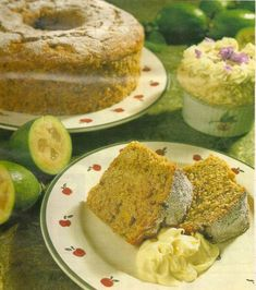 This recipe comes from my mother's old recipe book, a collection of hand-written recipes and clippings from magazines. There is nothing to indicate which magazine it has come from and if anyo… Guava Recipes, Fruit Recipes, My Recipes, Baking Recipes, Cake Recipes, Favorite Recipes, Pineapple Guava, Delish Cakes, Mother Recipe
