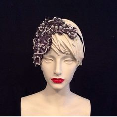 "JH Millinery on Instagram: ""This vintage lace headband took me many hours to make as I dyed,stiffened,lined and beaded a piece of vintage lace it was definitely…"" Lace Headbands, Vintage Lace, Crowns, How To Make, Instagram, Fashion, Moda, La Mode, Fasion"