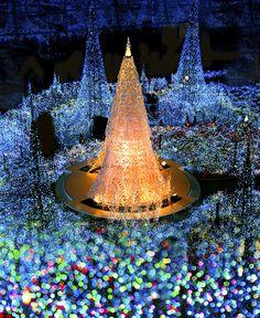 冬 Osaka Japan winter Magical Christmas, Merry Little Christmas, Beautiful Christmas, All Things Christmas, White Christmas, Christmas Holidays, Happy Holidays, Christmas Scenery, Christmas Light Displays