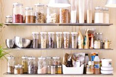 One of the most important items in a raw food kitchen is storage containers. IKEA glass and plastic containers work great for helping your staple ingredients like nuts, seeds and spices stay fresh lon (Ingredients Storage) Ikea Food Storage, Food Storage Organization, Food Storage Containers, Plastic Containers, Organizing Ideas, Ikea Kitchen, Kitchen Pantry, Kitchen Items, Kitchen Decor