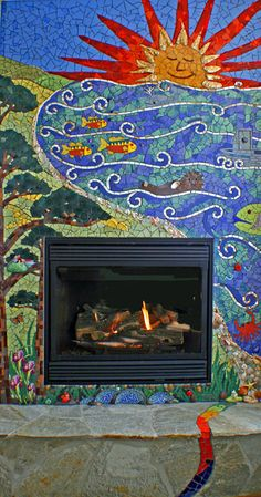 Architectural mosaics - Passiflora Mosaics - Fred and Donnell Pasion