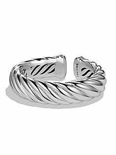 David Yurman - Sterling Silver Wide Open Cable Cuff