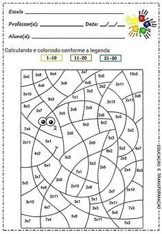 Valentine's Day Color By Number Multiplication Worksheets