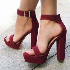 Shoespie New Chunky Heel Platform Sandals
