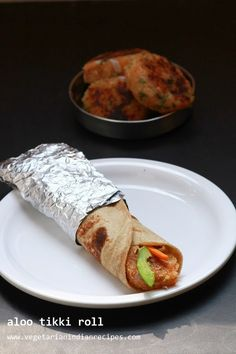 aloo tikki frankie or aloo tikki roll - healthy, tasty and filling snack