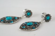 Boho Dangle Plugs Gauges Available in 6g 4g 2g 0g by EdgySister, $19.00