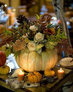 #Pumpkin Table #Centerpiece