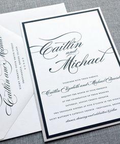 Classic & elegant wedding invitation