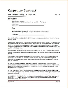 carpenter resumes