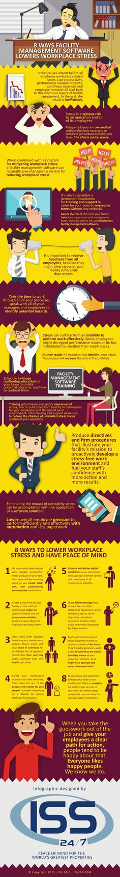 Is workplace stress a symptom of inefficiency at your facility? In this infographic, we outline 8 ways facility management software can help.