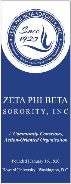 ZETA PHI BETA Sorority Inc Welcome Banner 9106 | www.sign11.com