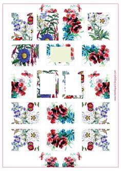 FREE printable vintage floral planner stickers