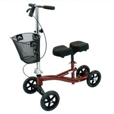 The Roscoe Knee Scooter is the perfect solution for those who are unable to put weight on their foot or ankle due to an injury. The knee scooter fold quickly and compactly for easy transport and storage. Knee Scooter, Mobility Aids, Crutches, Medical Equipment, Medical Cannabis, Medical Care, Burgundy, Children, Ebay