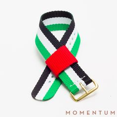 UAE flag nato strap available in steel, gold and PVD buckle: http://momentum-dubai.com/collections/watch-straps/products/watch-strap-nato-uae-flag