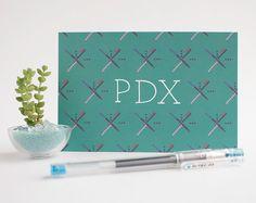 PORTLAND PDX airport carpet postcards  set of 3 by AlissaThiele