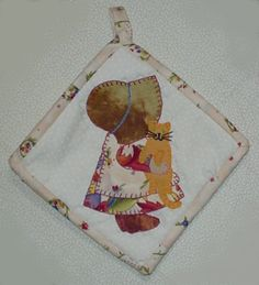 Sunbonnet Sue with cat