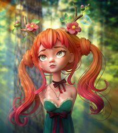 ArtStation - Druid Girl , Alina Makarenko